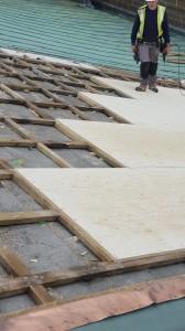 Roof works in progress